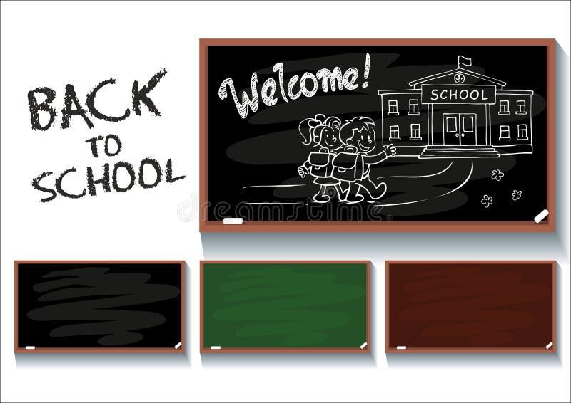 Back to school_blackboard stock illustration