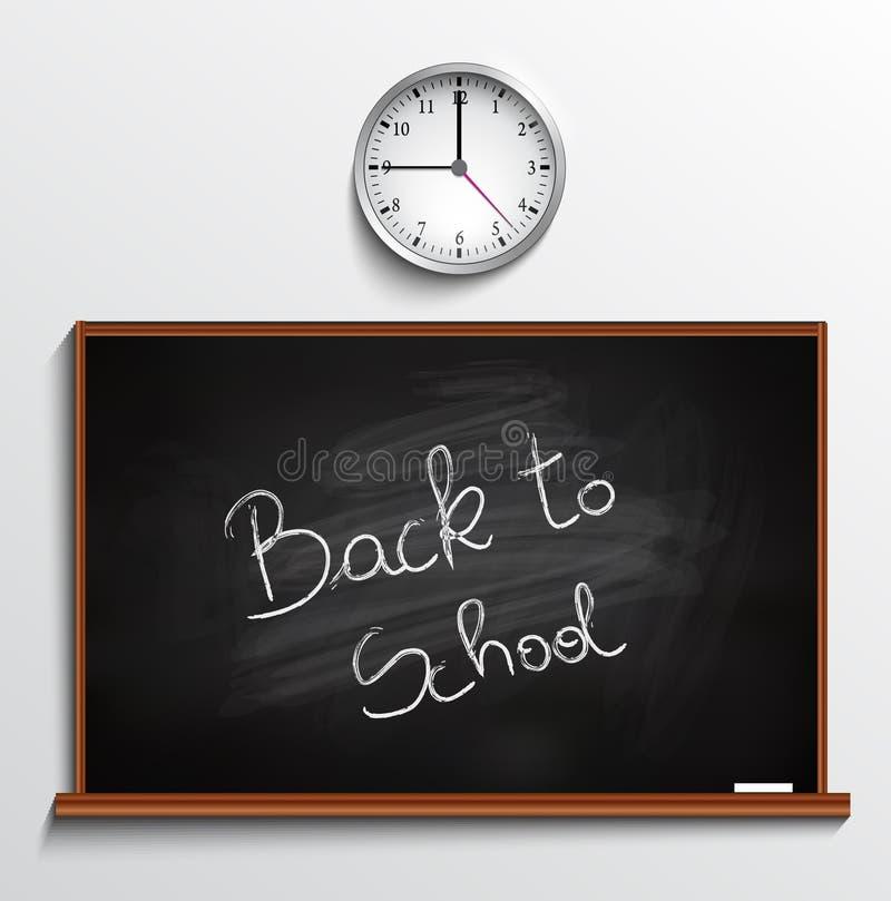 Back to school blackboard stock illustration