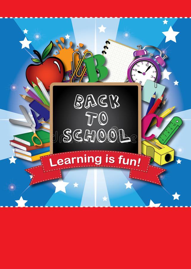 Kids School Book Cover Design : Back to school book cover stock illustration