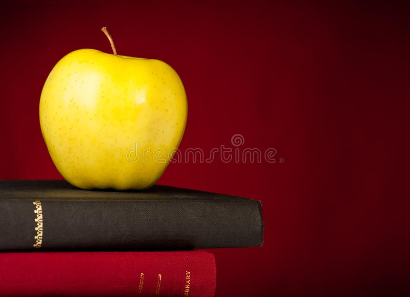 Download Back To School Books With Apple Royalty Free Stock Image - Image: 15791176