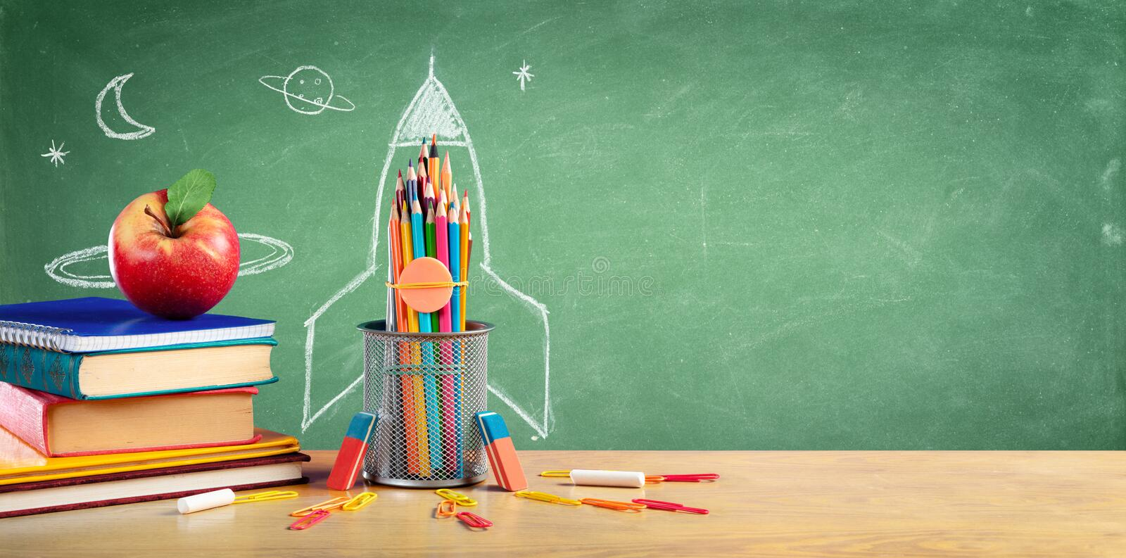 Back To School - Books And Pencils stock photos