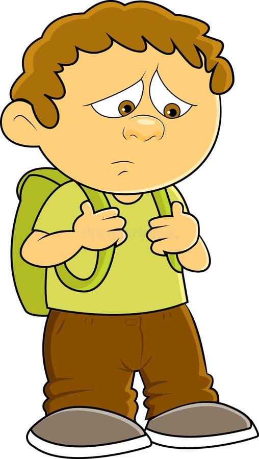 back to school stock vector illustration of school back 57187714 rh dreamstime com sad little boy clipart Sad Girl Clip Art
