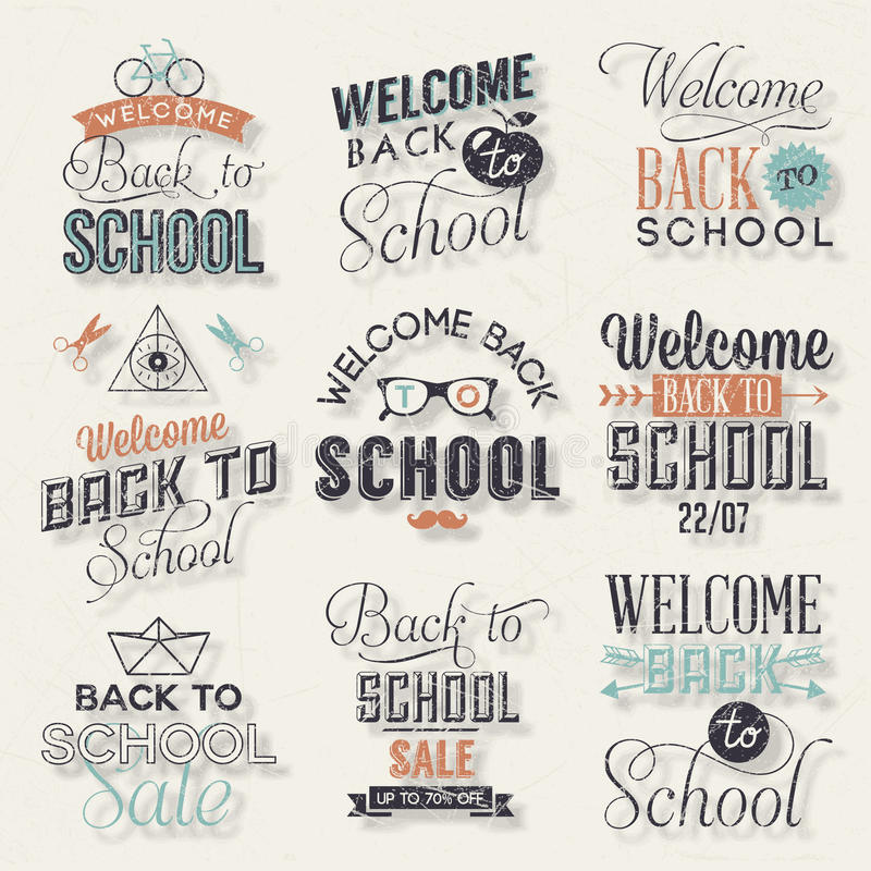Free Back To School Calligraphic Design Stock Photography - 42167102