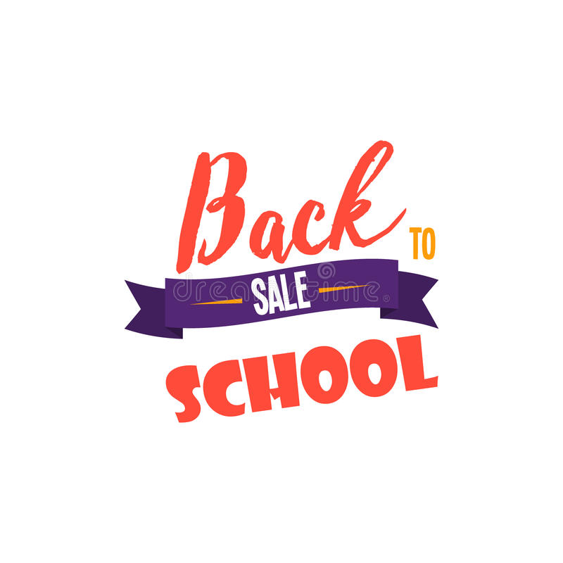 Back to school calligraphic designs label style elements sale clearance vector illustration. royalty free illustration