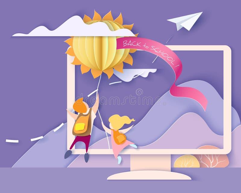 Back to school card. stock illustration