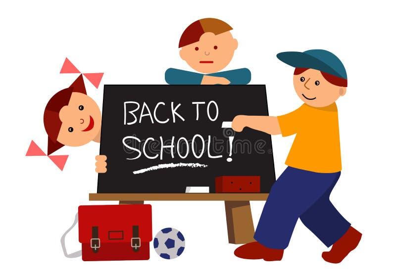 Back to school cartoon vector illustration