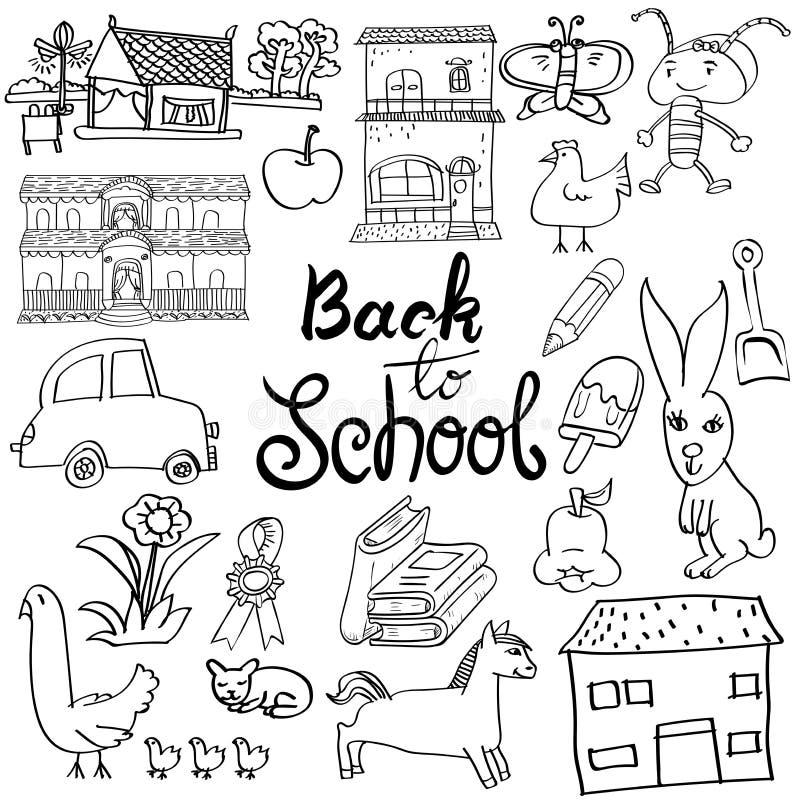 Back to school Cartoon doodle, Hand draw Vector vector illustration