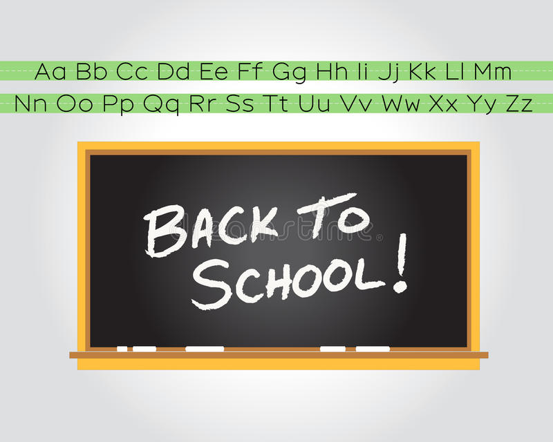Download Back to school chalkboard stock vector. Image of board - 15628427