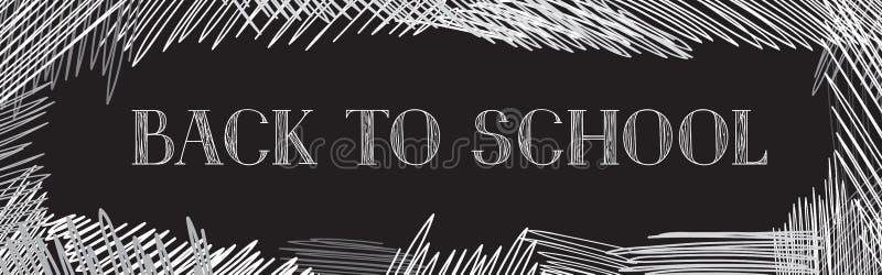 Back to school. Chalkboard background. Hand drawn message written over blackboard. Vector. royalty free illustration