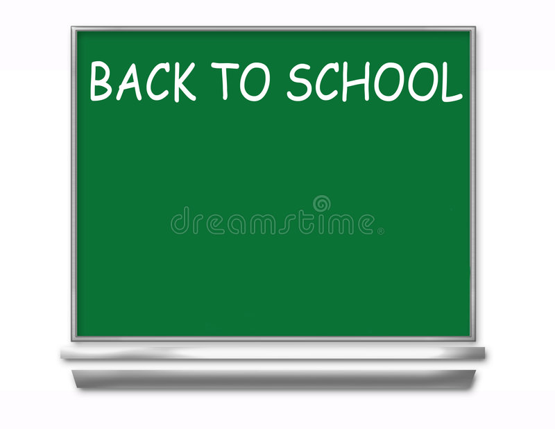Back To School Chalkboard - Kids vector illustration