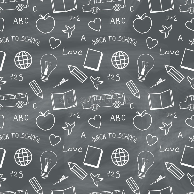 Back to School Chalkboard Pattern stock photo