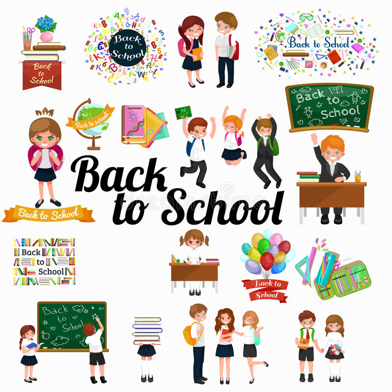 Back to school and children education concept background royalty free illustration