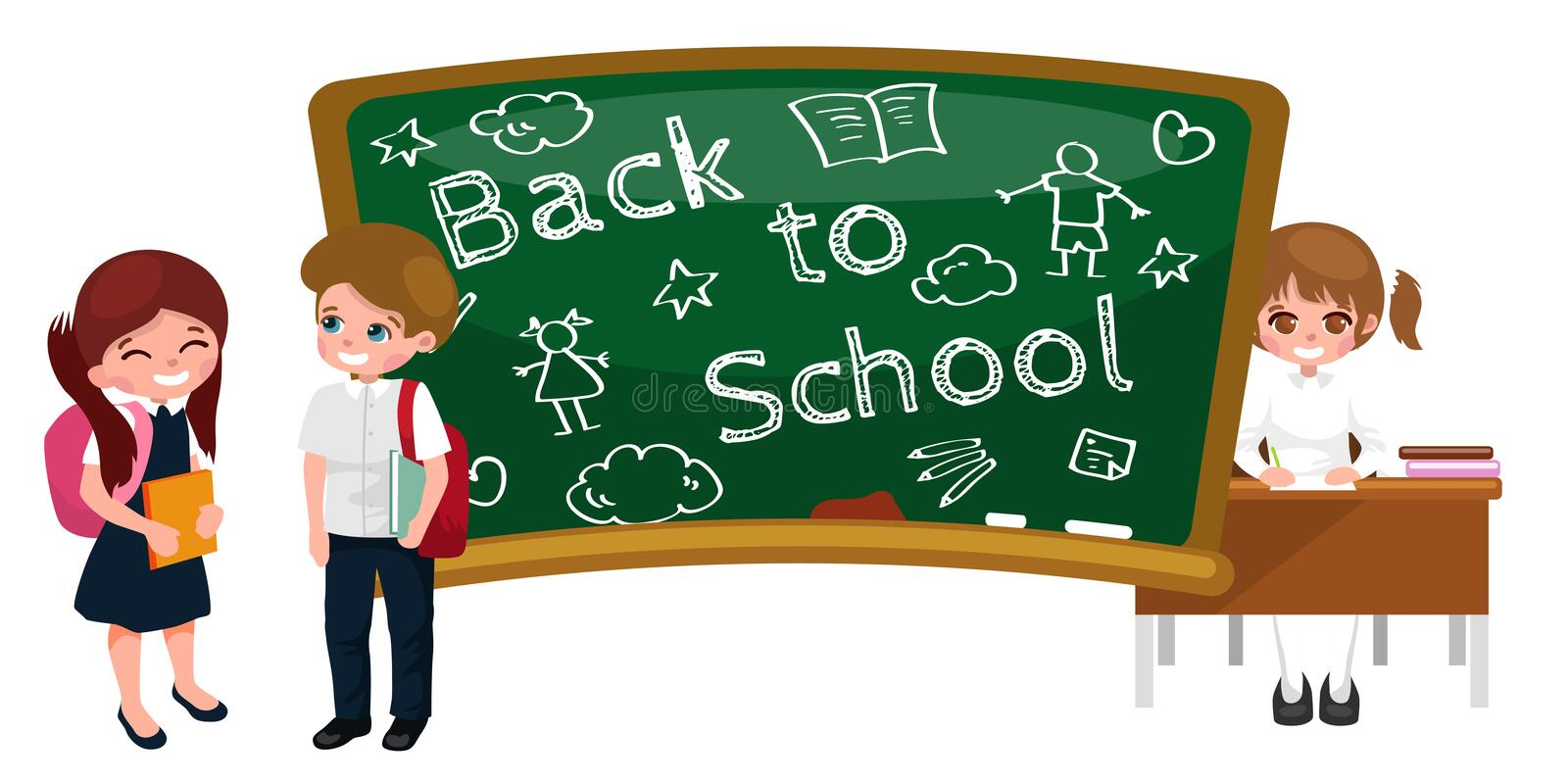 Back to school and children education concept background stock illustration
