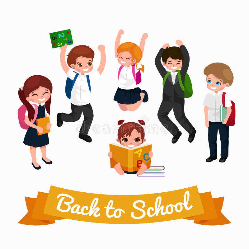 Back to school and children education concept vector background vector illustration