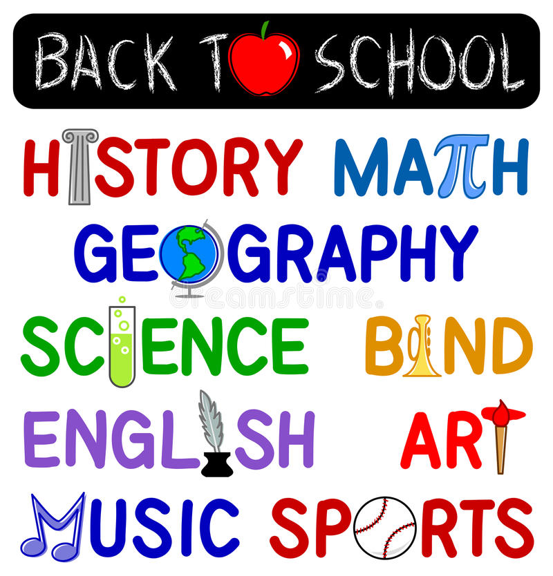 Back to School Clip Set/eps royalty free stock photography