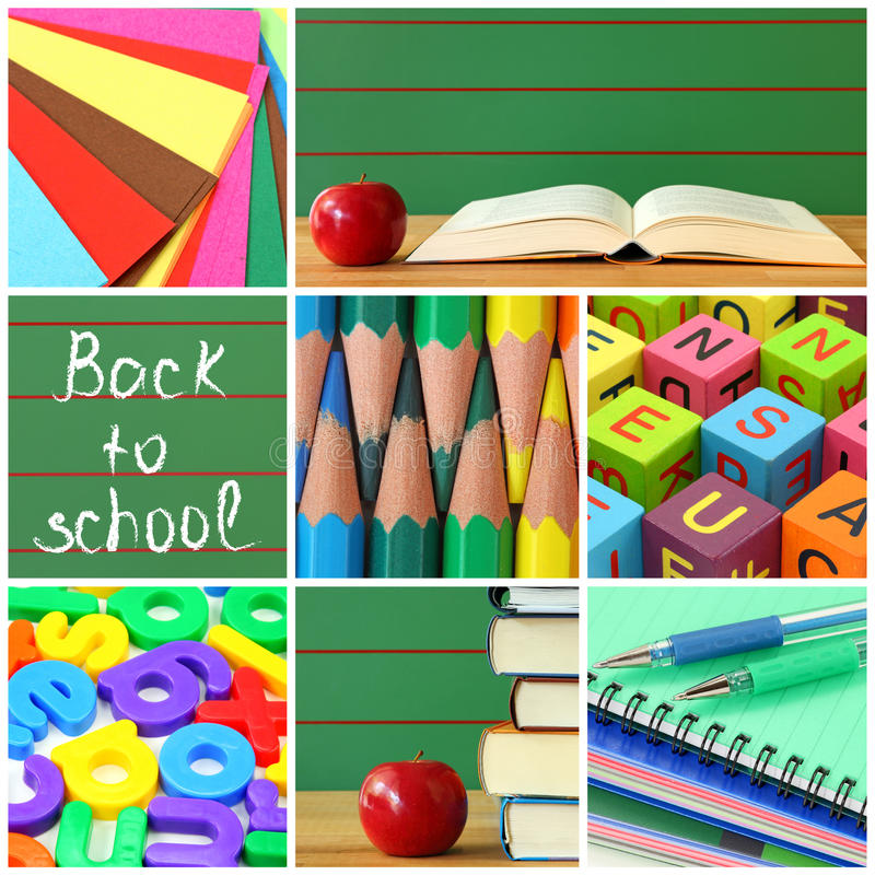 Download Back To School Collage Stock Photos - Image: 15648543