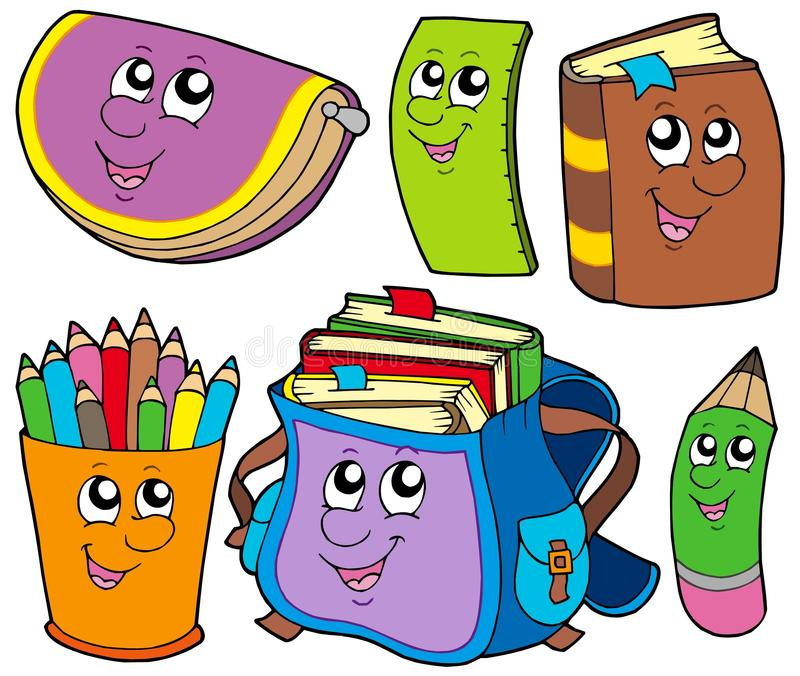 Back to school collection 5 royalty free illustration