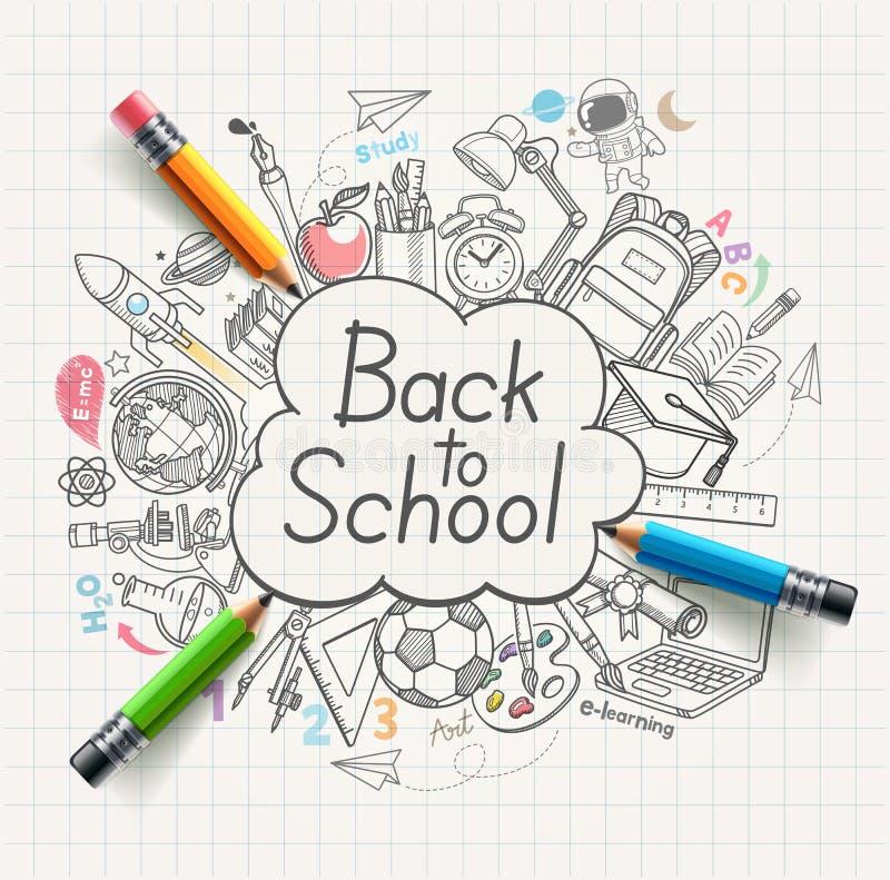 Back to school concept doodles. Vector illustration vector illustration