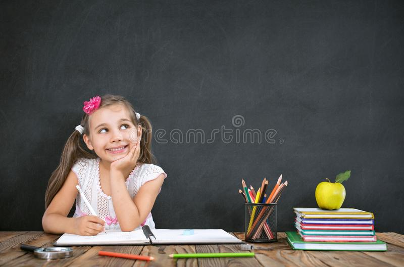 Back To School Concept, Happy Smiling Child Student royalty free stock images