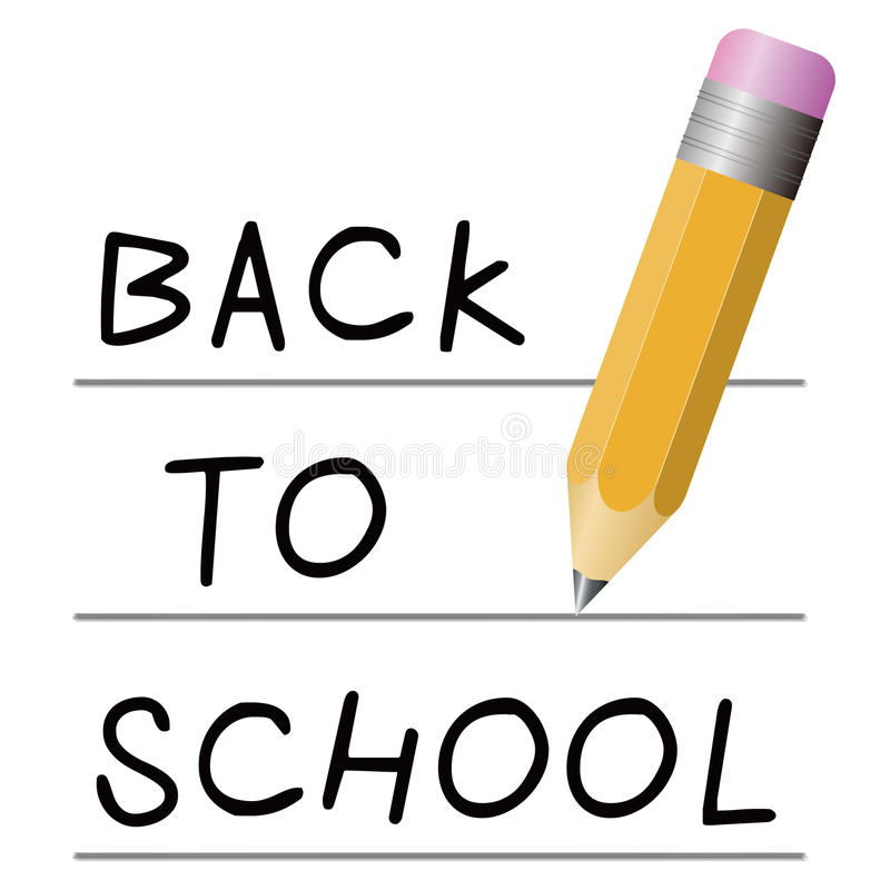 Back To School. Concept isolated on white royalty free illustration