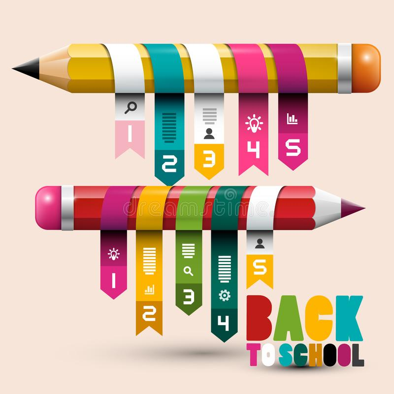 Back to School Concept with Pencils. royalty free illustration