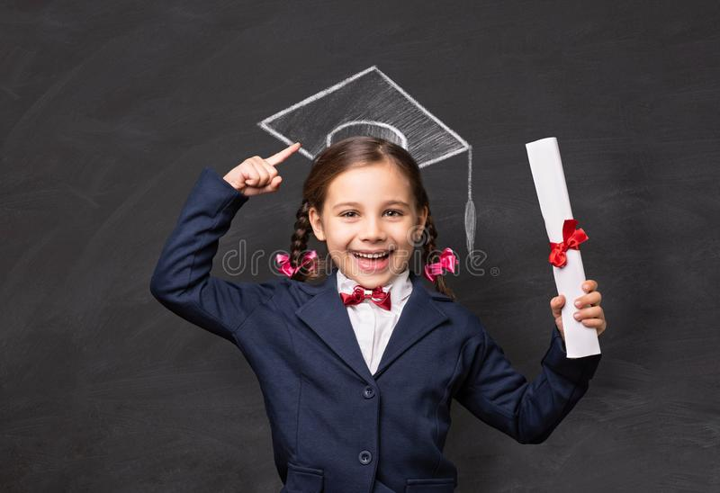 Back To School Concept, Portrait of Happy Smiling Child Student royalty free stock images