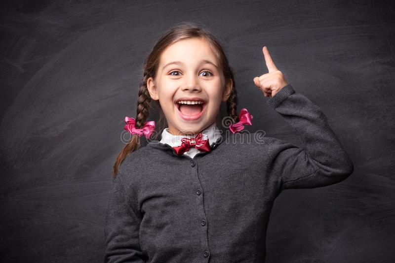 Back To School Concept, Portrait of Happy Smiling Child Student stock images