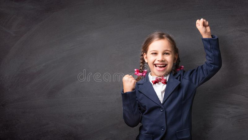 Back To School Concept, Portrait of Happy Smiling Child Student stock photo