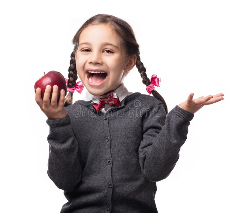 Back To School Concept, Portrait of Happy Smiling Student royalty free stock image