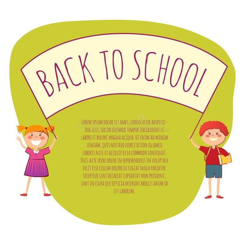 Back to school conept vector illustration stock illustration