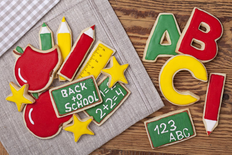 Back to school cookies royalty free stock photos