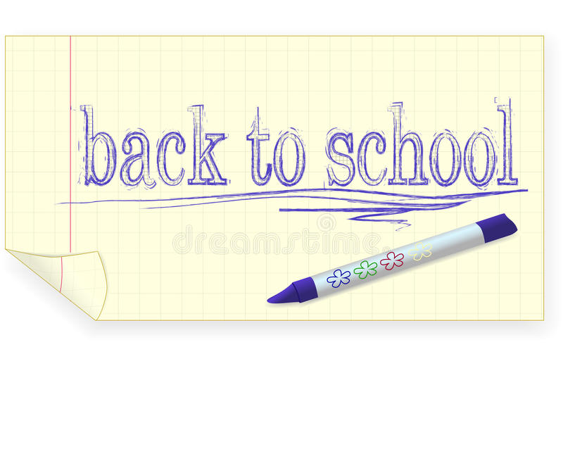 Download Back To School, Crayon Drawing Stock Vector - Image: 25237554