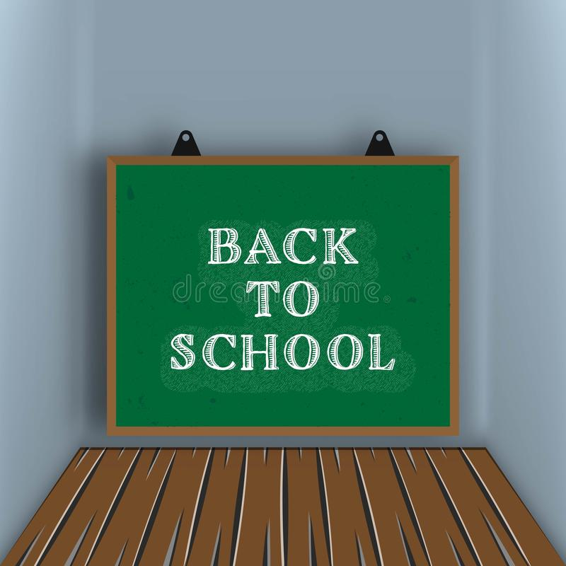 Back to school creative background vector illustration