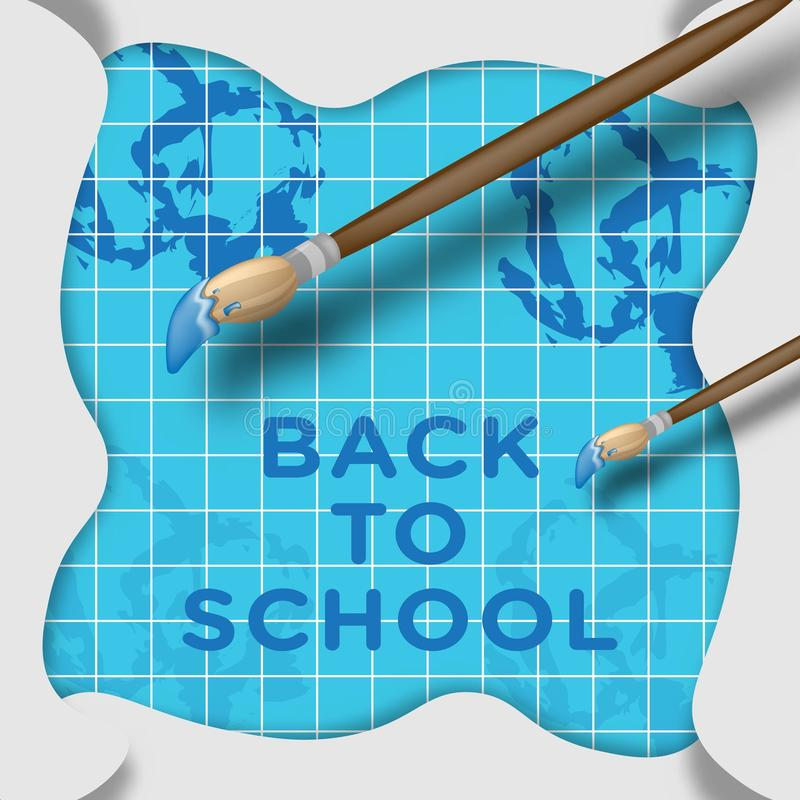 Back to school creative background royalty free illustration