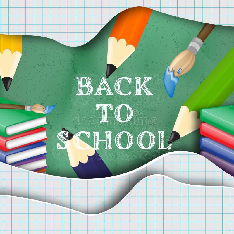 Back to school creative background stock illustration