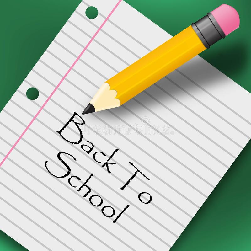 Back to school creative background. with pencil royalty free illustration