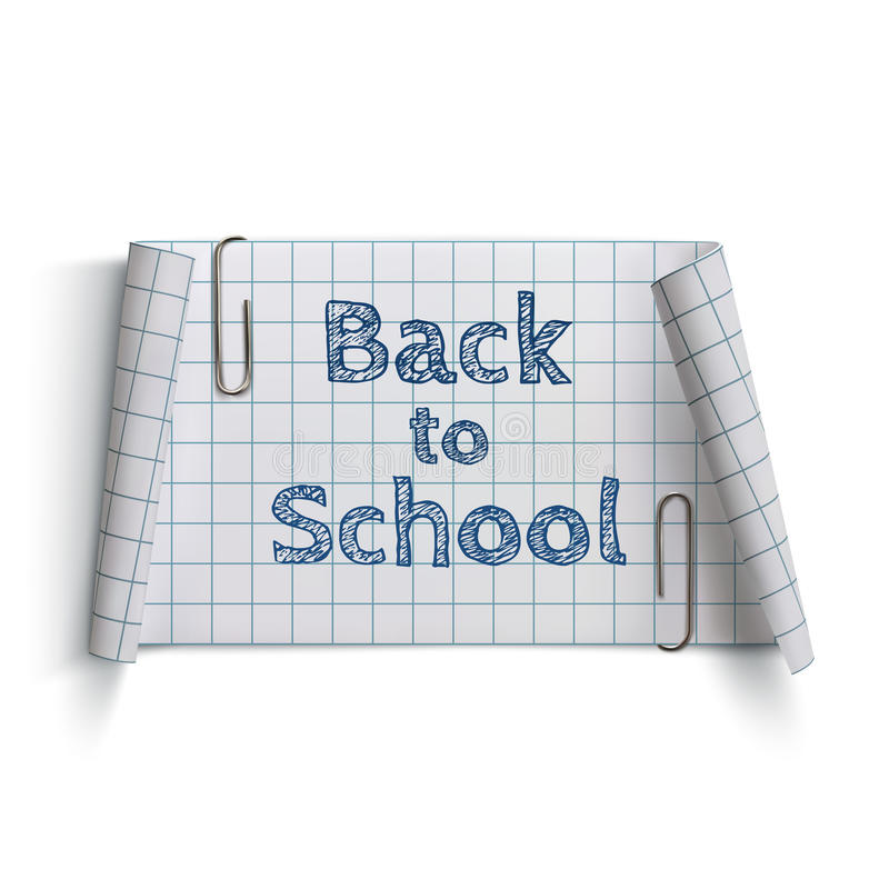 Free Back To School, Curved Paper Banner Stock Images - 56531814
