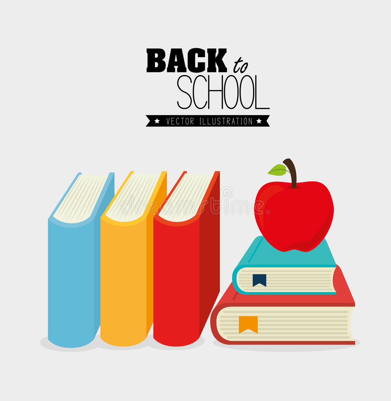 Back to school design royalty free illustration