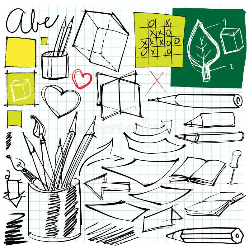 Back to school doodles vector illustration
