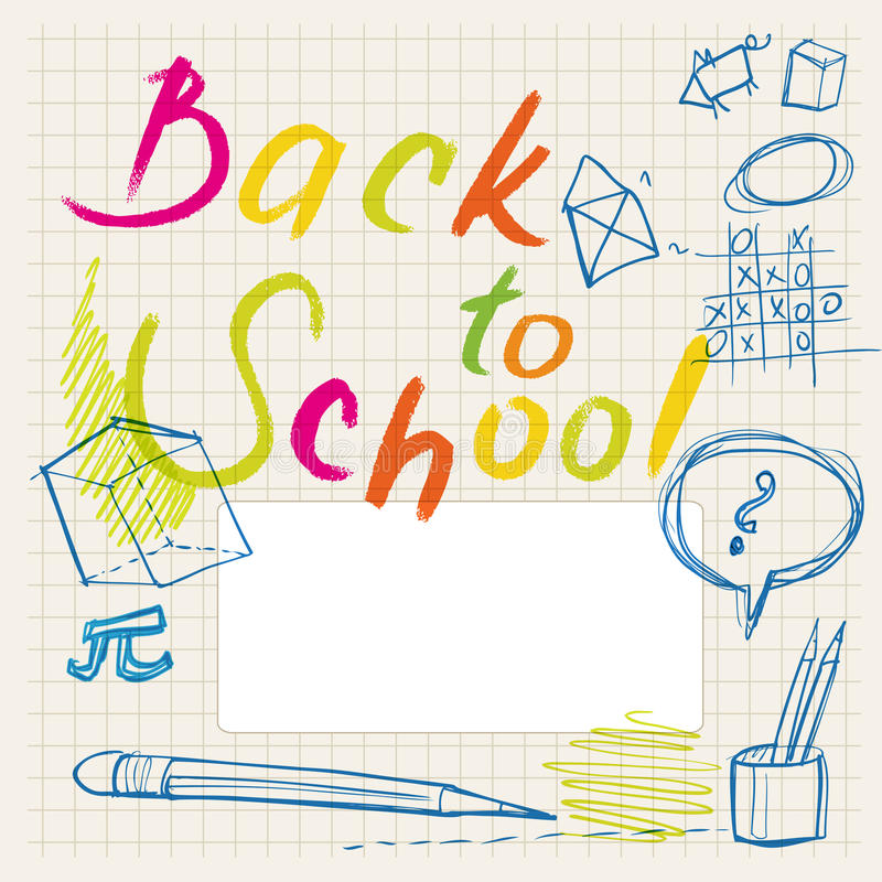 Back To School Doodles - Label Royalty Free Stock Photography