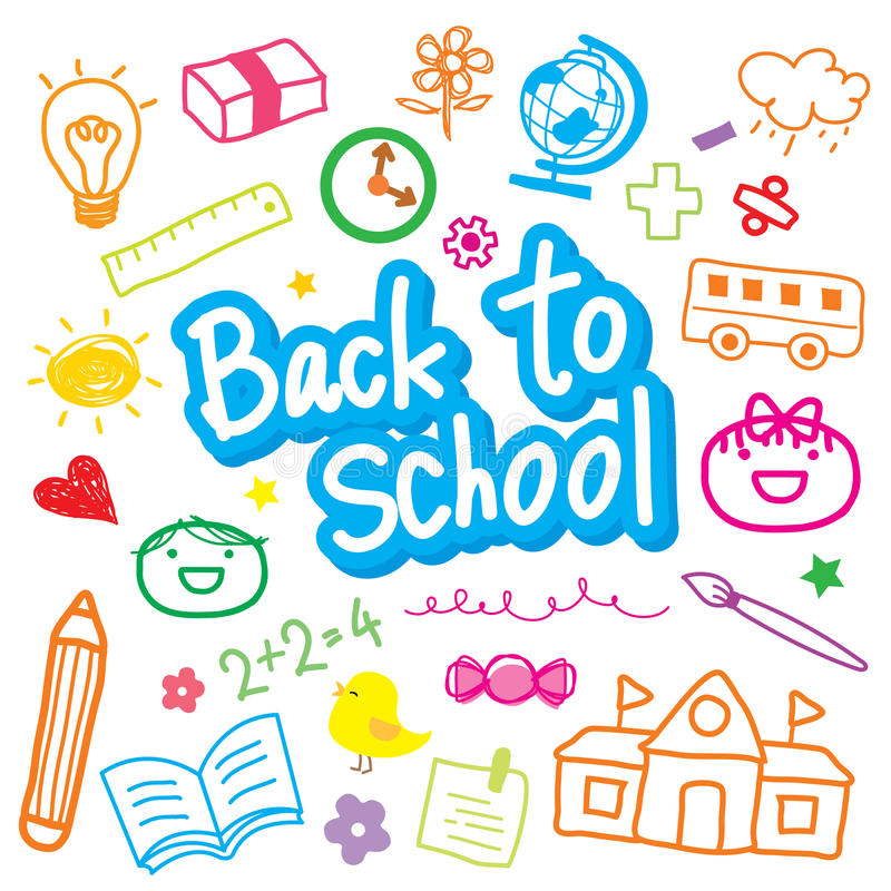 Free Back To School Draw Kid Cute Cartoon Vector Design Royalty Free Stock Images - 51770649