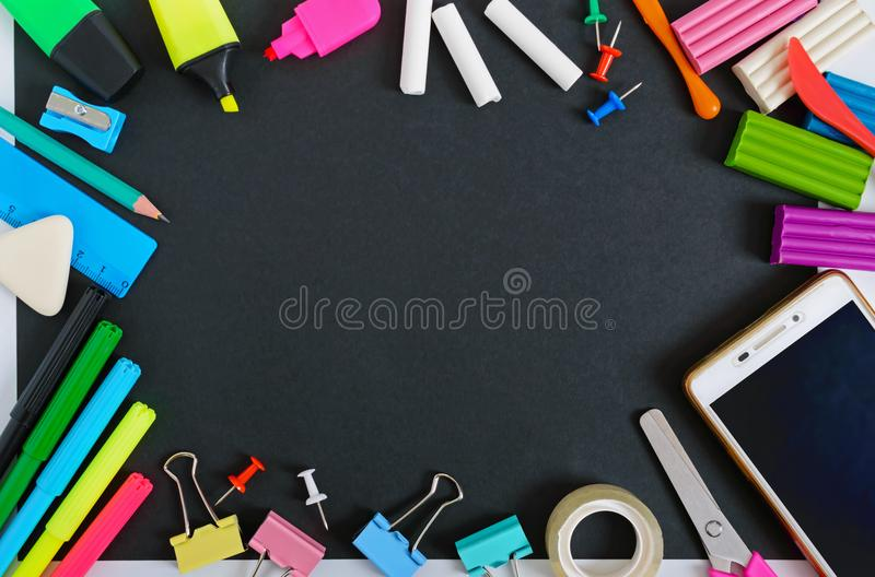 Back to school, education concept. School supplies. royalty free stock photos