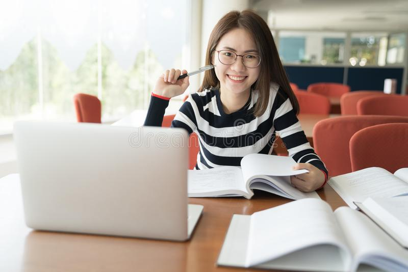 Back to school education knowledge college university concept, Young people being used computer and tablet, Education and technolo. Gy concept royalty free stock image