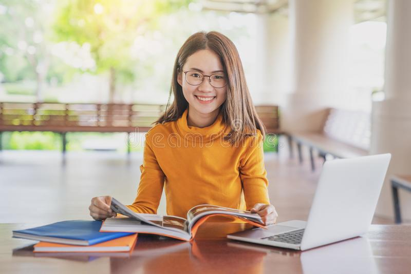 Back to school education knowledge college university concept, Young people being used computer and tablet, Education and technolo. Gy concept stock images