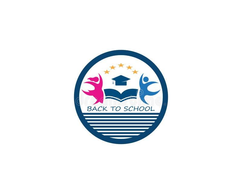 Back to school education logo vector royalty free illustration