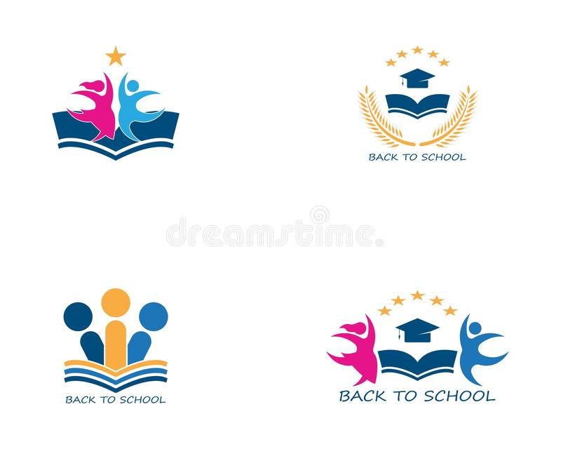 Back to school education logo vector vector illustration