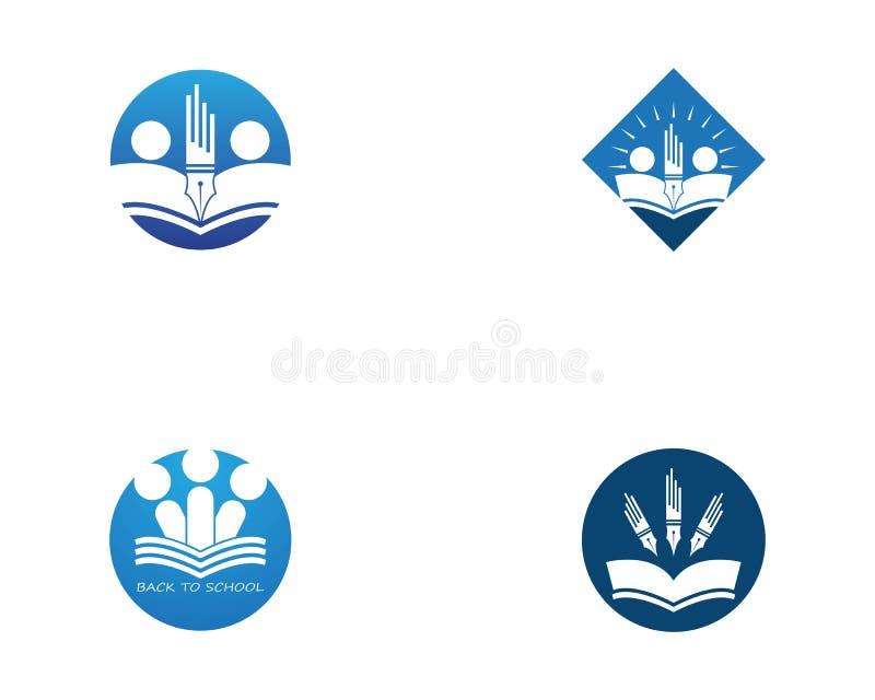 Back to school education logo vector vector illustration