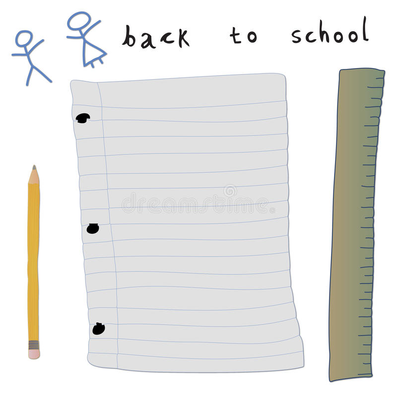 Back To School Elements Stock Photos