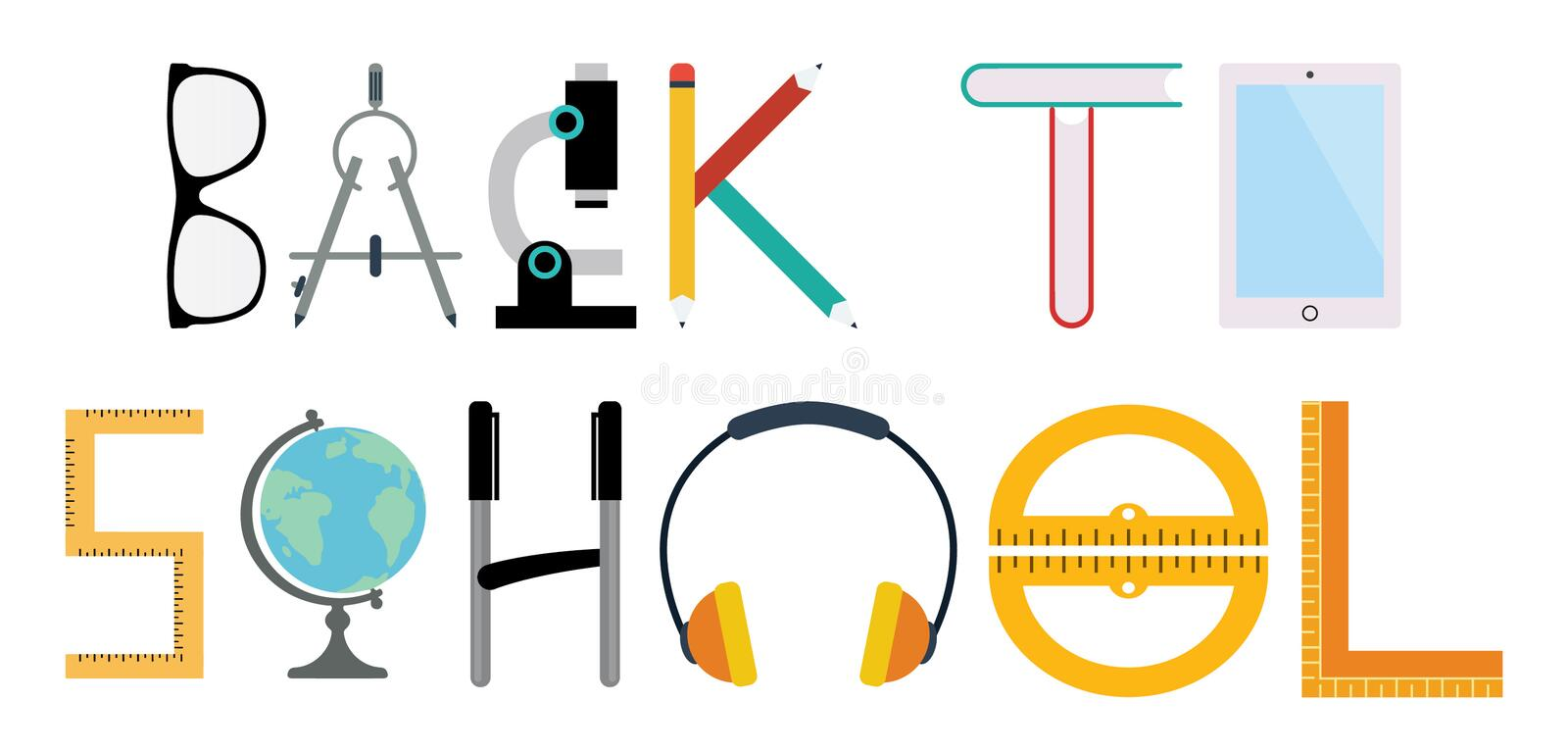 Back To School Flat Icon royalty free stock image