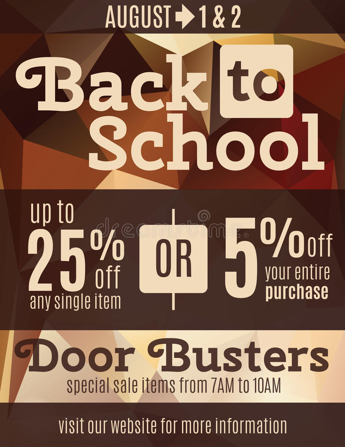 Back to school flyer template vector illustration